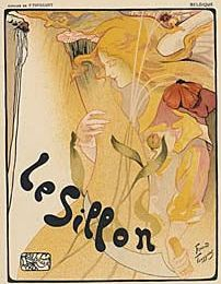 SALE: Original Antique French Art Nouveau Lithograph 'Le Sillon' by Toussaint 1896