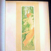 REDUCED Original Antique French L'Estampe Moderne Art Nouveau Lithograph 'Renouveau' 1897.