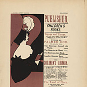 Original Antique French Lithograph 'Publisher' by Beardsley 1897