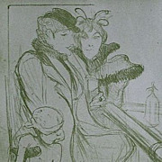 Toulouse-Lautrec Lithograph~Limited Edition 1927