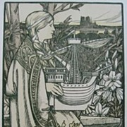 REDUCED Original Antique Art Nouveau French Lithograph ~Lutece~L'Estampe Moderne 1898.