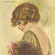 Art Deco Italian Signed Artist Postcard. 1920.