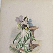 Beautiful Antique French Grandville Engraving 'Pensee' 1867.