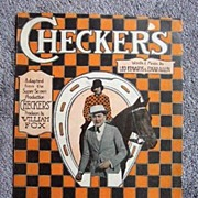 REDUCED 1919 Horse-Racing Movie Sheet Music � 'Checkers'