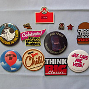 Collection of Wendy�s Fast-Food Employee Buttons, 1980s