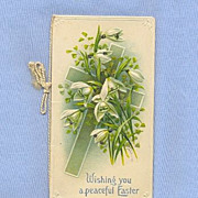 Victorian Greeting Card Booklet for Easter - Cross and Lilies