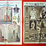 SALE 1937 Coronation King George VI - Special Editions of Two Boston Newspapers