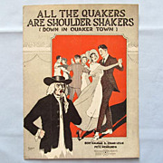 �All the Quakers are Shoulder Shakers� � Cover by Barbelle � Quaker Girls Dancing, 1919