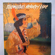 �Hiawatha�s Melody of Love� - Lovely Girl in Native American Beaded Dress 1920