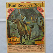 �Paul Revere�s Ride�  Fabulous Cover by E. T. Paull, 1905