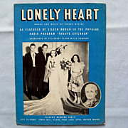 Lonely Heart  Wedding from Soap Opera Todays Children on Cover, 1936