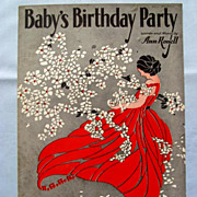 �Baby�s Birthday Party� � Red Dress and White Flowers on an Eye-Catching Cover, 1930