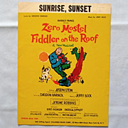 Sunrise, Sunset- from Fiddler on the Roof Broadway Zero Mostel, 1964