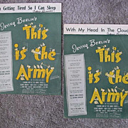 Two Songs from Irving Berlin�s Army Relief Fund Movie, �This is the Army�, 1942