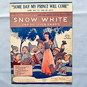SOLD �Some Day My Prince Will Come� � Disney�s �Snow White�, 1937