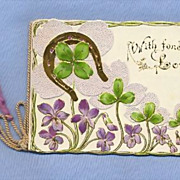 Pretty Valentine Booklet, Victorian Era Sentimental Poem