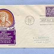Woman�s Rights Convention Anniversary, 1948 First Day Cover