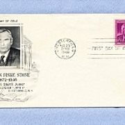 Supreme Court Judge Harlan Fiske Stone, 1948 First Day Cover