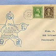 Souvenir Envelope for 1932 GAR Civil War Encampment, Springfield, IL