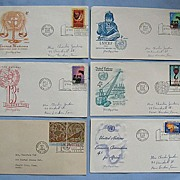 SALE United Nations First Day Covers, Group of Six 1960-1969