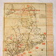 1929 Map of Maine, from Augusta Trust Company