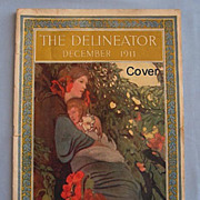 SALE Delineator Magazine, Beautiful Cover, December 1911 - Complete Issue