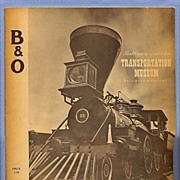 SALE Baltimore and Ohio Railroad Transportation Museum Brochure, 1950s