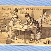 Trade Card � Victorian Kitchen Scene with Conqueror Wringer
