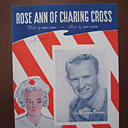 SALE �Rose Ann of Charing Cross�, Red Cross WW ll Worker on Cover, 1942