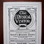 Worcester, Mass., 1909 Weekly Publication with Waltz Music Song