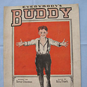 �Everybody�s Buddy�,  Cute Cover for Sad Sentimental Song, 1920