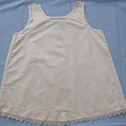 Baby Slip, Vintage Home-Sewn with Pretty Tatted Edging