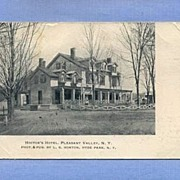 SOLD Hoctor�s Hotel, Pleasant Valley, NY, Postcard Mailed 1906