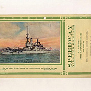 Speedway Oil, Red �C� Company Ad for Garage Wall, Battleship Oregon