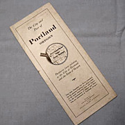 Portland Oregon Publicity Pamphlet of Facts and Information, 1923