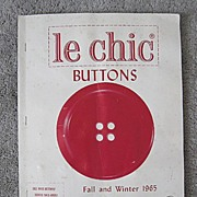 SOLD Le Chic Dress Buttons - Salesman�s Sample of Complete Line for 1965 - Red Tag Sale Item
