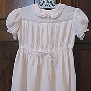 SALE White Dress for Little Girl, Pretty Lace Trim, Circa 1940