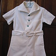 SALE Boys Cute Two-Piece Shirt and Buttoned Pants With Belt, 1940s
