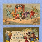 SALE Chinese Laundry Trade Card and One Other - Lavine Washing Soap