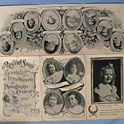 SALE 1903 Beautiful Baby Contest Winners on Resinol Soap Brochure