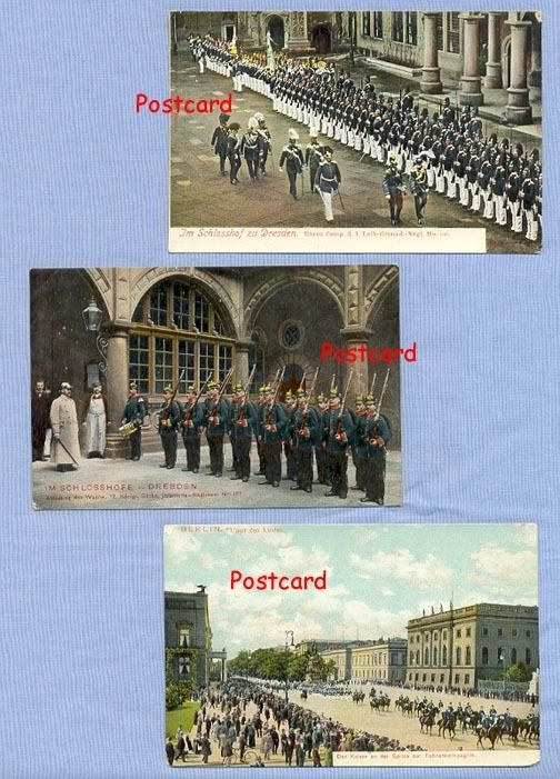 Berlin Military Parade and Two Dresden Regimental Inspections, Germany Circa 1910