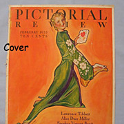 SALE Artist McClelland Barclay on 1933 Pictorial Review Magazine Cover