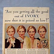 1933 Magazine Advertisement Page, Ivory Soap and Campbell Soups