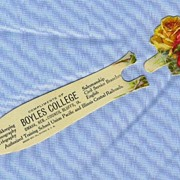 REDUCED Celluloid Bookmark, Boyles College, Union Pacific Railroad