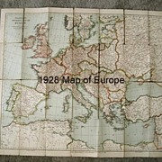 Tourists Map of Europe, 1928 - A Glimpse of Days Gone By
