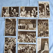 SALE Queen Elizabeth Coronation 1953 � Set of Ten Real Photo Postcards