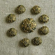 SOLD Beautiful Intricate Buttons - Vintage Elegance in a Set of Eight