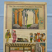 Snow White Cut-Out Theatre,  from 1918 Delineator Magazine