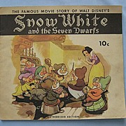 SALE 'Snow White' Storybook � Authorized Disney Edition of 1938 Movie