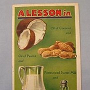 REDUCED Purity Margarine Advertising Pamphlet with Recipes, 1920s